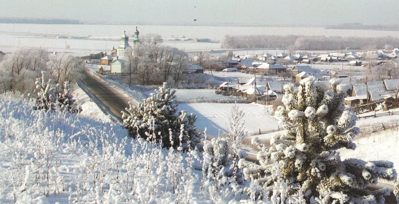 Село Прислониха. родина художника А.А.пластова